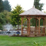 Gazebo with concrete slab