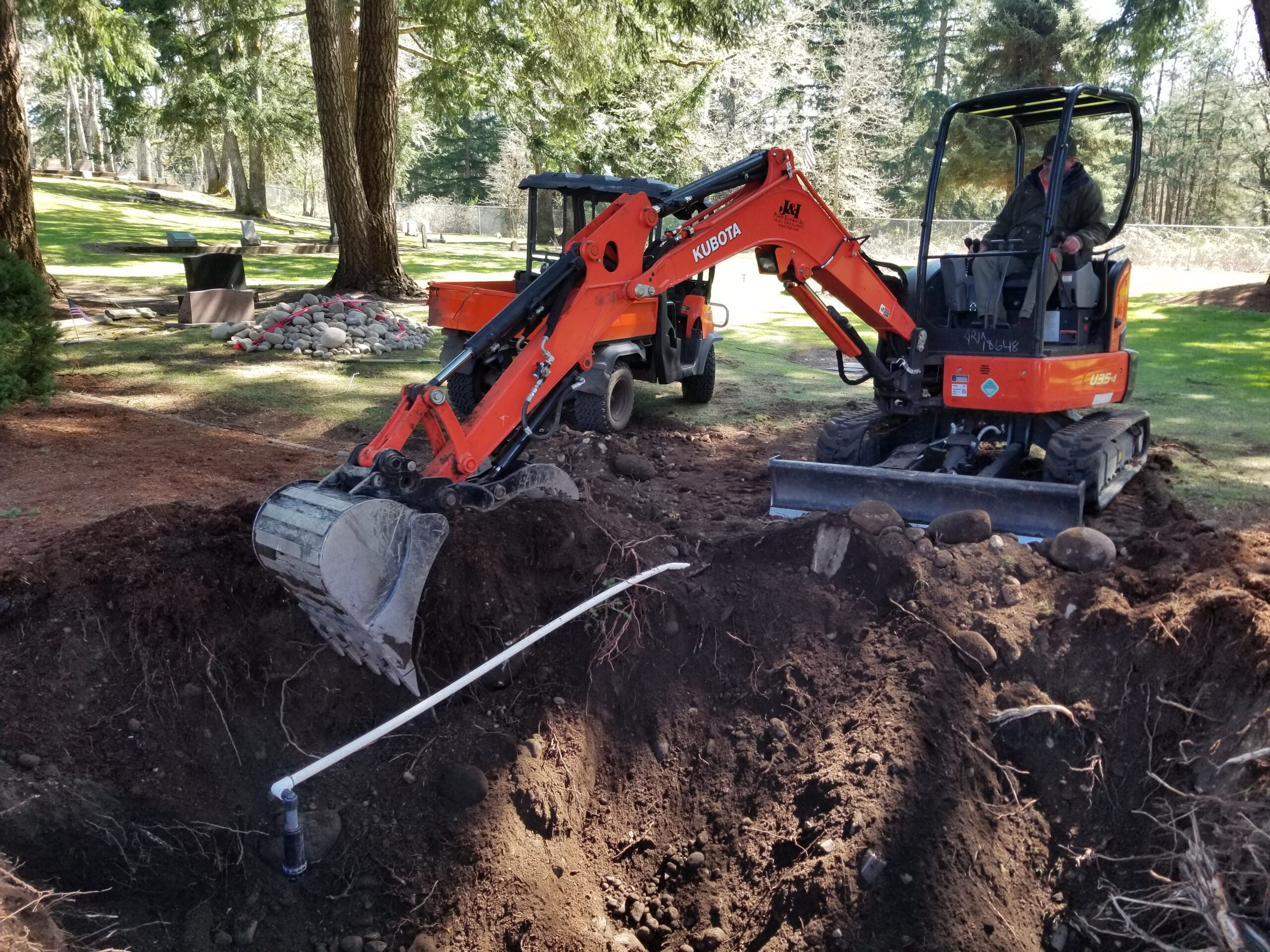 """Excavation for a """"Water Feature"""""""